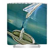 1957 Oldsmobile Hood Ornament 5 Shower Curtain