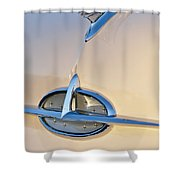 1957 Oldsmobile Hood Ornament 7 Shower Curtain by Jill Reger