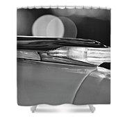 1957 Pontiac Bonneville Hood Ornament - Fender Spear 2 Shower Curtain