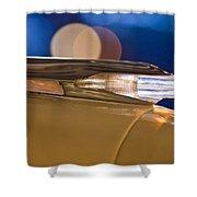 1957 Pontiac Bonneville Hood Ornament - Fender Spear Shower Curtain