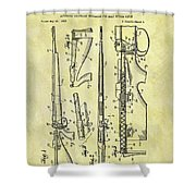1957 Rifle Patent Shower Curtain
