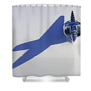 1957 Studebaker Hood Ornament Shower Curtain
