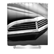 1957 Thunderbird Scoop Black And White Shower Curtain