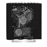 1958 Air Conditioner Patent Shower Curtain