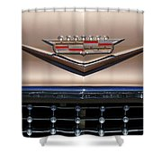 1958 Cadillac Eldorado Barritz Emblem Shower Curtain by Jill Reger