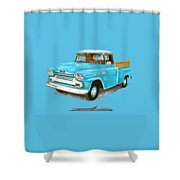 Apache Pick Up Truck Shower Curtain