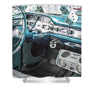 1958 Chevrolet Impala - 5 Shower Curtain