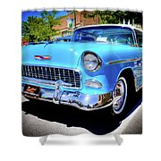 1955 Chevy Baby Blue Shower Curtain