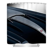 1958 Corvette 'big Block' Hood Shower Curtain