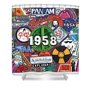 1958 Shower Curtain