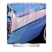 1958 Dodge Sweptside Truck Taillight Shower Curtain