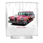 1958 Edsel Bermuda Shower Curtain