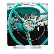 1958 Edsel Pacer Dash Shower Curtain