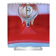 1958 Edsel Ranger Hood Ornament 2 Shower Curtain