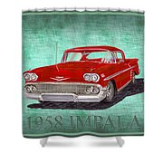 1958 Impala By Chevrolet Shower Curtain