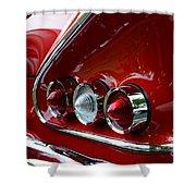 1958 Impala Tail Lights Shower Curtain