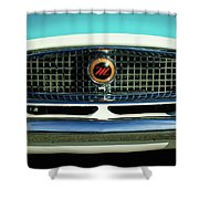 1958 Nash Metropolitan Hood Ornament 2 Shower Curtain