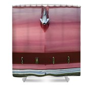 1958 Oldsmobile S-88 Hood Ornament 2 Shower Curtain