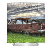 1958 Plymouth Savoy Shower Curtain