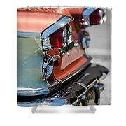 1958 Pontiac Bonneville Taillights Shower Curtain