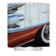 1958 Pontiac Bonneville Wheel Shower Curtain