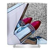 1959 Cadillac Eldorado Tail Fin Shower Curtain