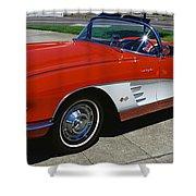 1959 Corvette Shower Curtain