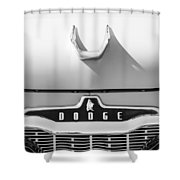 1959 Dodge Coronet Emblem - Hood Ornament -0903bw Shower Curtain
