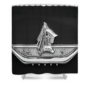 1959 Dodge Custom Royal Super D 500 Emblem -0230bw Shower Curtain