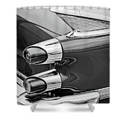 1959 Dodge Custom Royal Super D 500 Taillight -0233bw Shower Curtain