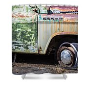 1959 Dodge D100 Sweptline Power Giant Pickup Shower Curtain