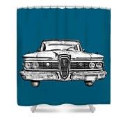 1959 Edsel Ford Ranger Illustration Shower Curtain