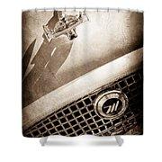 1959 Nash Metropolitan 1500 Convertible Hood Ornament - Grille Emblem -0180s Shower Curtain