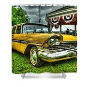 1959 Plymouth Suburban Sport 001 Shower Curtain