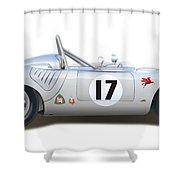 1959 Porsche Type 718 Rsk Spyder Shower Curtain