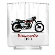 1959 T120 Bonneville Shower Curtain