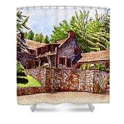 #196 Bourn Cottage Shower Curtain