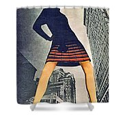 1960 70 Fashion Shot Of Female Model In Usa Shower Curtain