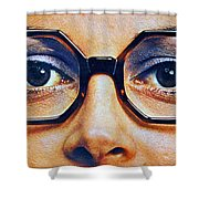 1960 70 Stylish Female Glasses Advertisement 4 Shower Curtain