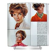 1960 70 Stylish Female Hair Styles Brown Mature Lady Shower Curtain
