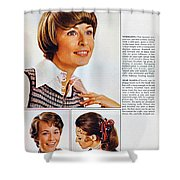 1960 70 Stylish Female Hair Styles Brown Shower Curtain