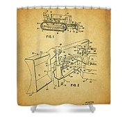 1960 Bulldozer Patent Shower Curtain