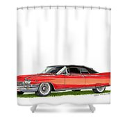 1960 Cadillac El Dorado Biarritz Shower Curtain