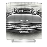 1960 Cadillac - Vignette Bw Shower Curtain