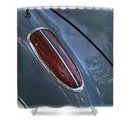 1960 Chevy Corvette Taillight Shower Curtain