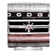 1960 Dodge Truck Grille Emblem -0275ac Shower Curtain