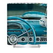 1960 Ford Thunderbird Dash Shower Curtain