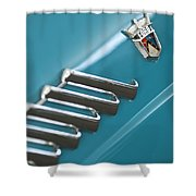 1960 Ford Thunderbird Emblem Shower Curtain