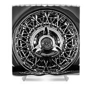 1960 Ford Thunderbird Spare Tire 2 Shower Curtain