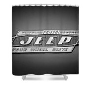 1960 Forward Control Jeep Fc-170 Emblem -1669bw Shower Curtain